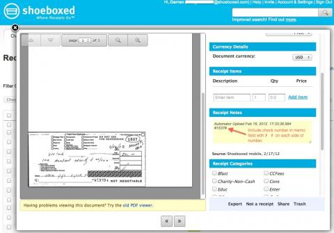 QIF Converter for Processing Shoeboxed Check Receipts   San
